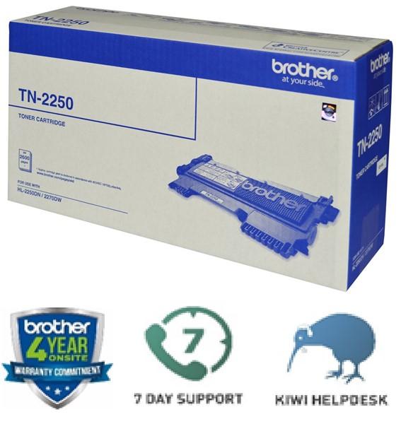 Brother Toner TN2250 Black High Capacity -