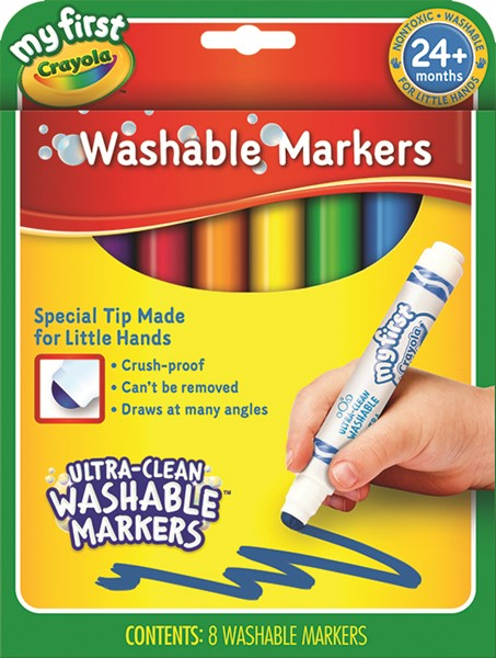 Crayola My First Washable Round Nib Markers 8 Pack -