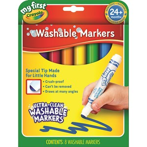 Crayola My First Washable Round Nib Markers 8 Pack