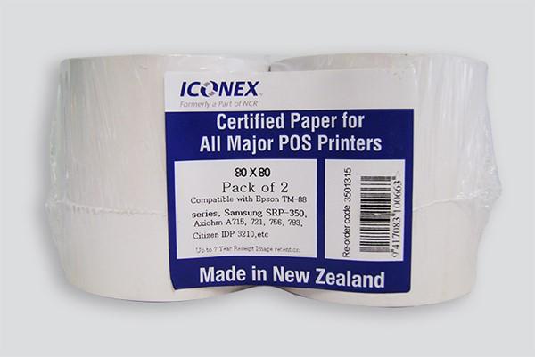 Iconex Thermal Roll 80x80mm Pack 2 - pr_427508