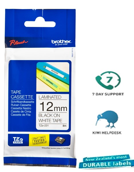 Brother P-Touch Tape TZE231 12mm Black On White - pr_427509