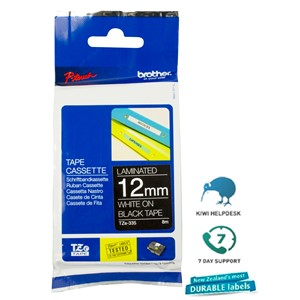 Brother P-Touch Tape TZE335 12mm White on Black