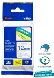 Brother P-Touch Tape TZE235 12mm Blue on White 8m