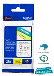 Brother P-Touch Tape TZE221 9mm Black On White 8m