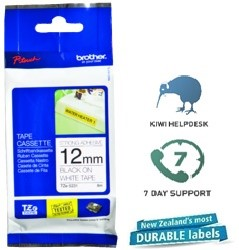 Brother P-Touch Tape TZES231 12mm Black On White Extra Strength
