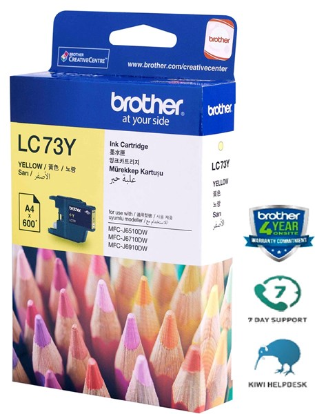 Brother Ink Cartridge LC73Y Yellow -