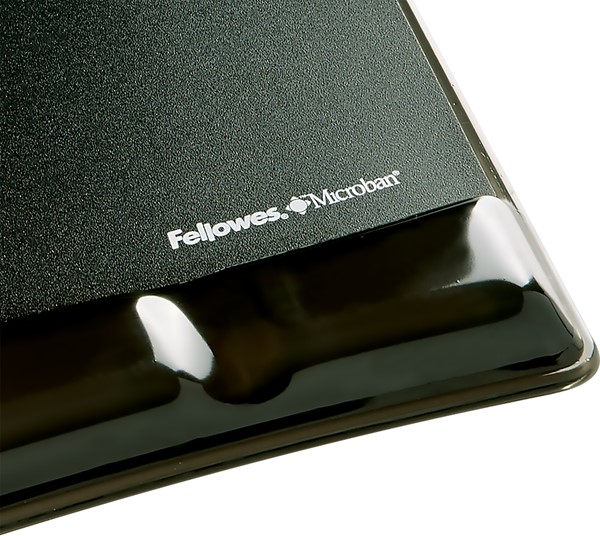 Fellowes Gel Wrist Support Mouse Pad Black -