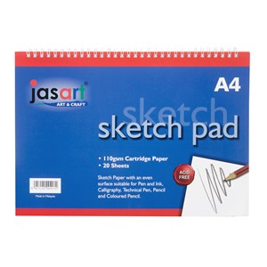 Jasart Sketch Pad Spiral A4 20 Sheet