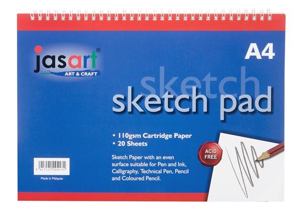 Jasart Sketch Pad Spiral A4 20 Sheet -