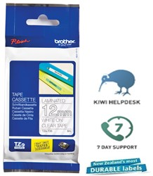 Brother P-Touch Tape TZE135 12mm White on Clear