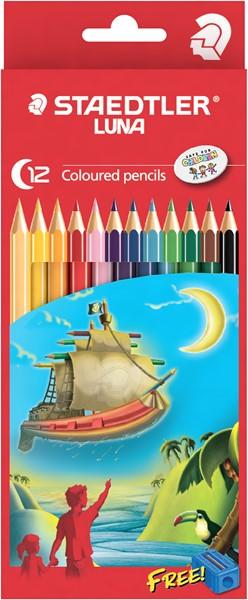 Staedtler Luna Coloured Pencil Full Length 12pk -