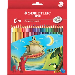 Staedtler Luna Coloured Pencil Full Length 24pk