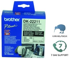 Brother DK Label Continuous Paper DK22211 29mm x 15.24m White -