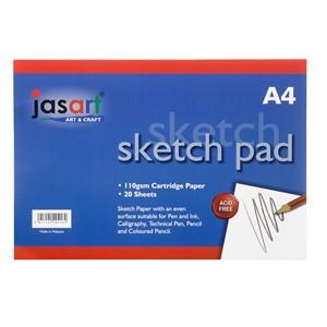 Jasart Sketch Pad Gummed A4 20 Sheet