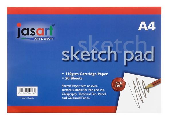 Jasart Sketch Pad Gummed A4 20 Sheet -