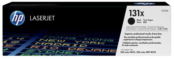 HP Toner CF210X 131X Black Hi Capacity -