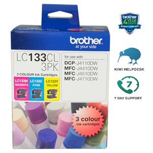 Brother Ink Cartridge LC133CL3PK CMY Pack