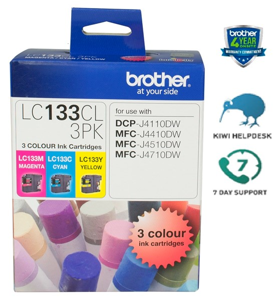 Brother Ink Cartridge LC133CL3PK CMY Pack -