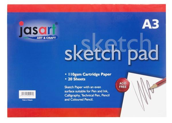 Jasart Sketch Pad Gummed A3 20 Sheet -