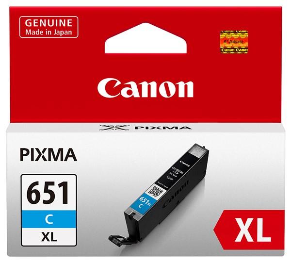 Canon Ink Cartridge CLI651XLCOCN Cyan Chromalife -
