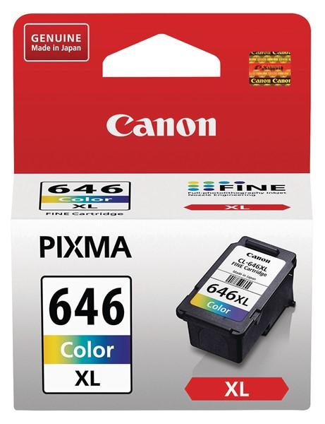 Canon Ink Cartridge CL646XLCN Colour High Yield Fine -