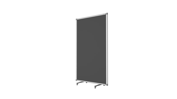 Boyd Visuals Free Standing Partition 900 x 1500mm Charcoal - pr_403791