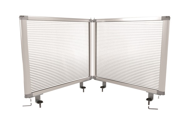 Boyd Visuals Desk Mounted Partition  450 x 1460mm Polycarbonate - pr_403795