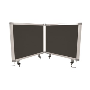 Boyd Visuals Desk Mounted Partition 450 x 560mm Charcoal