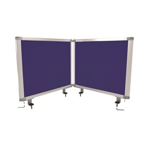 Boyd Visuals Desk Mounted Partition  450 x 1160mm Blue