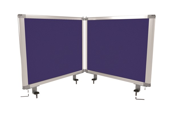 Boyd Visuals Desk Mounted Partition  450 x 1460mm Blue - pr_403803