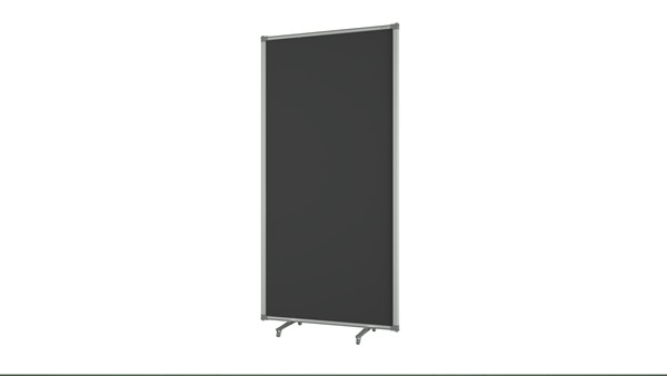Boyd Visuals Free Standing Partition 900 x 1800mm Charcoal - pr_403807