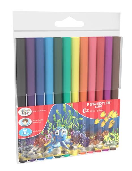 Staedtler Luna Fibre-Tip Pen 12pk -