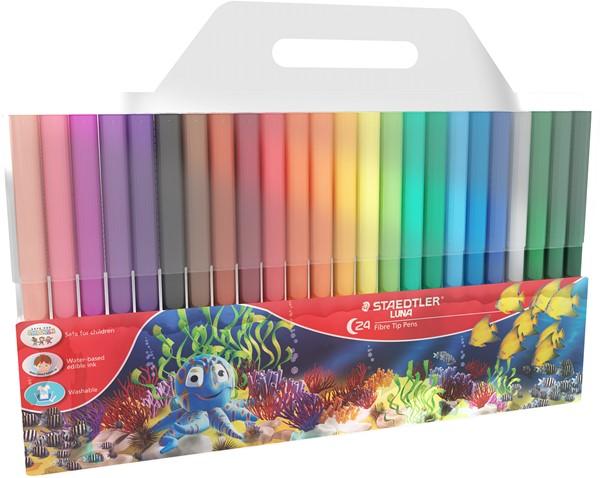 Staedtler Luna Fibre-Tip Pen 24pk -