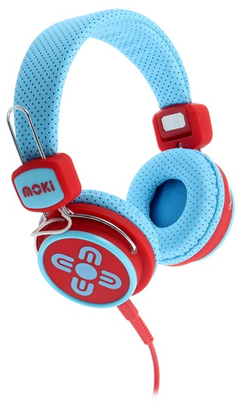 Moki Headphone Kids Safe Blue/Red - pr_427620