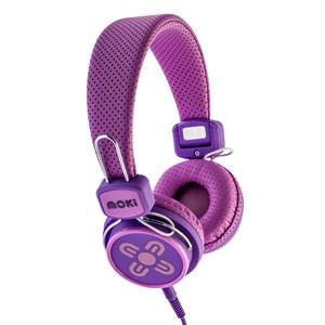 Moki Headphones Kids Safe Pink/Purple