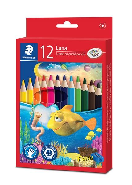 Staedtler Luna Jumbo Coloured Pencil 12pk -