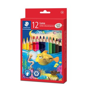 Staedtler Luna Jumbo Coloured Pencil 12pk