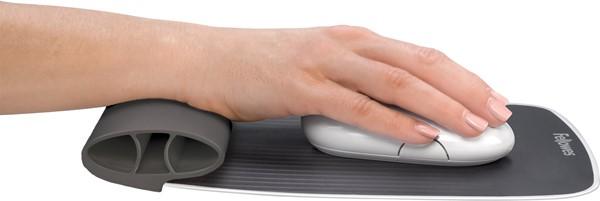 Fellowes I-Spire Series Wrist Rocker Mouse Pad Grey -