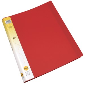 Marbig Display Book Insert Spine A4 20 Pockets Red