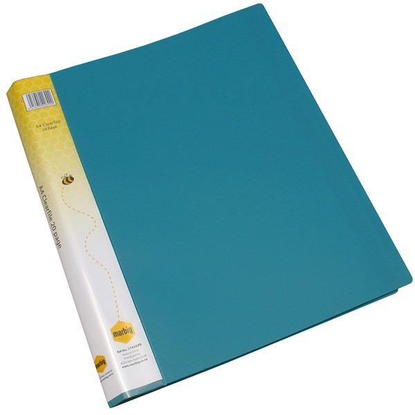 Marbig Display Book Insert Spine A4 20 Pockets Green - pr_1702008
