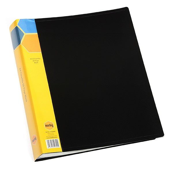 Marbig Display Book Insert Spine A4 40 Pockets Black - pr_1702421