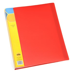 Marbig Display Book Insert Spine A4 40 Pockets Red