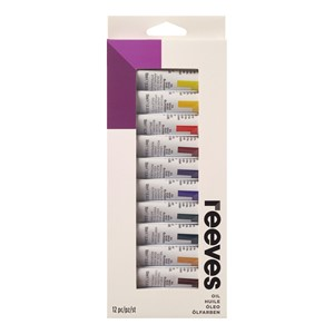 Reeves Oil Colour Paints 10ml - Set of 12