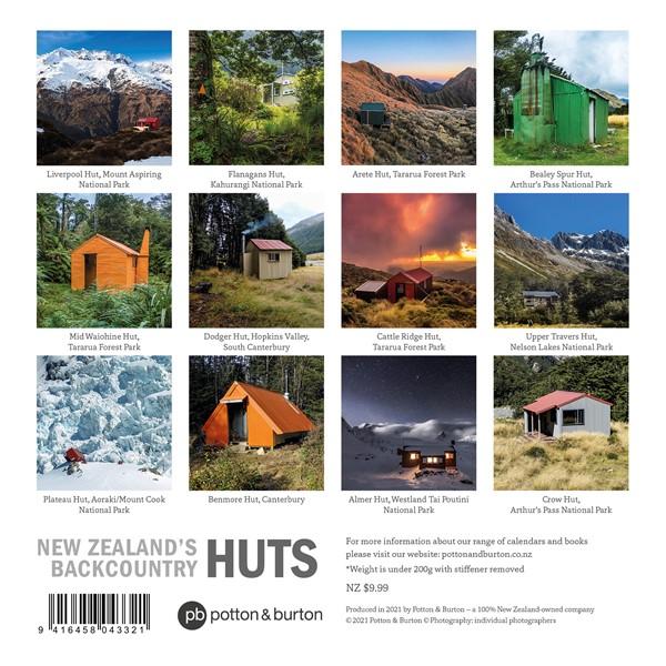 2022 Calendar NZ's Backcountry Huts -