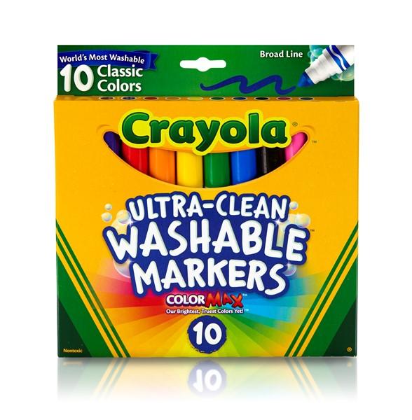 Crayola 10 Ultra Clean Classic Broadline Markers - pr_427646