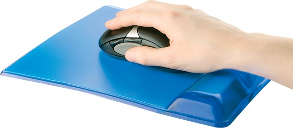 Fellowes Gel Wrist Support Mouse Pad Blue -