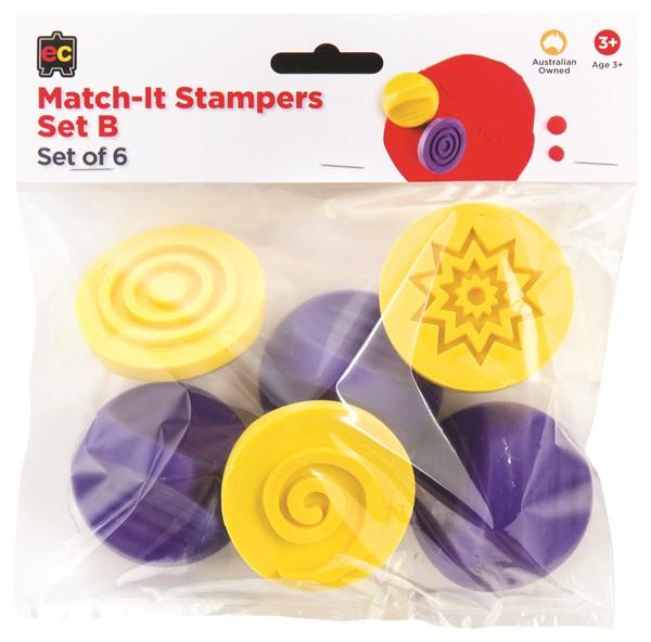 EC Stamper Match It Set B Pack 6 -