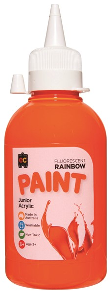 PAINT EDVAN ACRYLIC RAINBW FLUORO ORANGE - pr_1774196