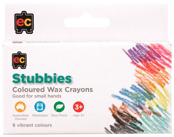 EC Crayons Stubby 8 Pack -