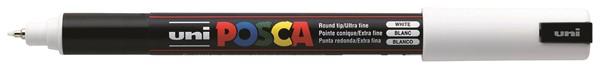 Uni Posca Marker 0.7mm Ultra-Fine Pin Tip White -